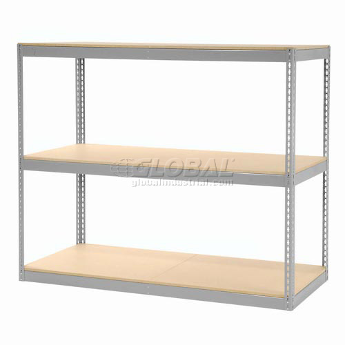 "Record Storage Rack Gray Without Boxes 72""W x 30""D x 60""H by"