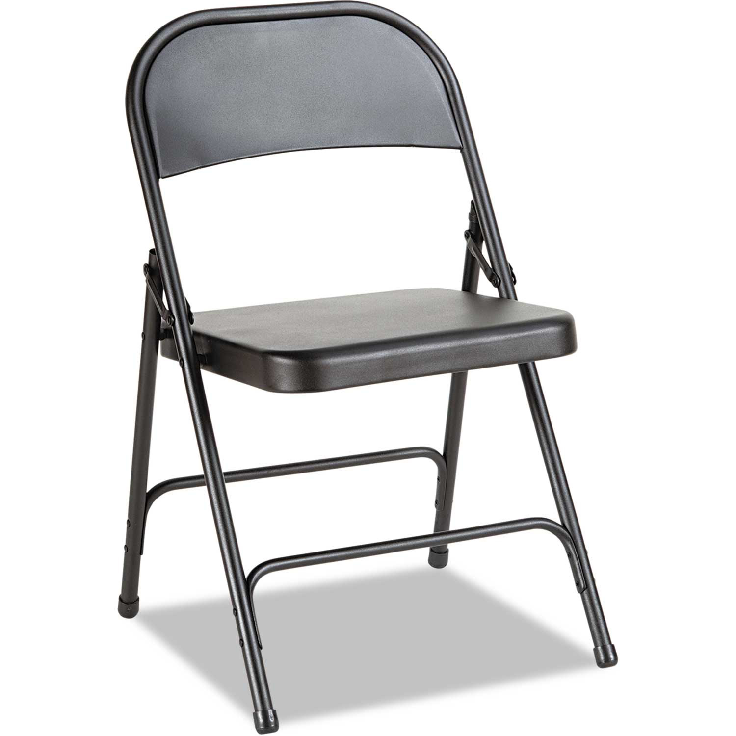 Alera Steel Folding Chair Black 4/Carton by