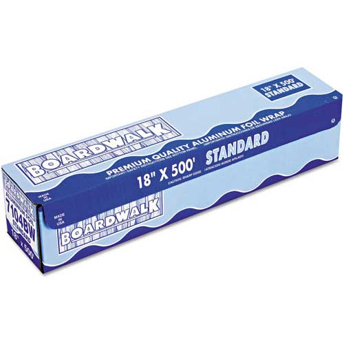 "Boardwalk Standard Aluminum Foil Roll, 12"" x 500 Ft., 14 Micron Thickness, Silver by"