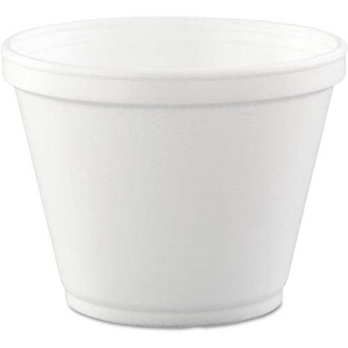 Dart Food Containers, Foam, White, 12 Oz., 500 Per Case by