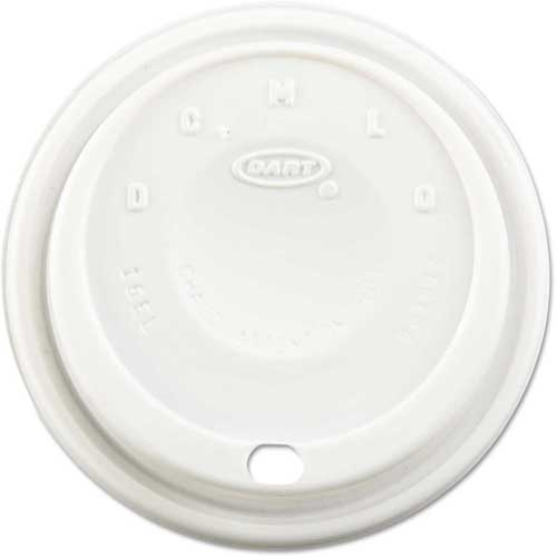 Dart Cappuccino Dome Sipper Lids, Fits 12-24 Oz. Cups, White by