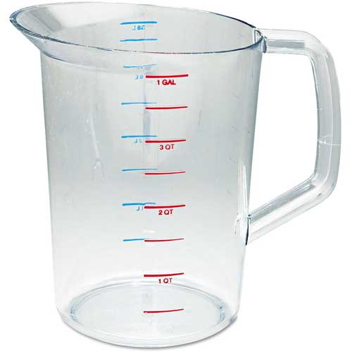 Rubbermaid Commercial Bouncer Measuring Cup, 4 Qt., Clear by