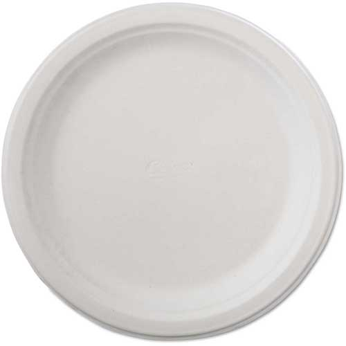 "Chinet Classic Paper Plates, 9 3/4"", White, Round by"