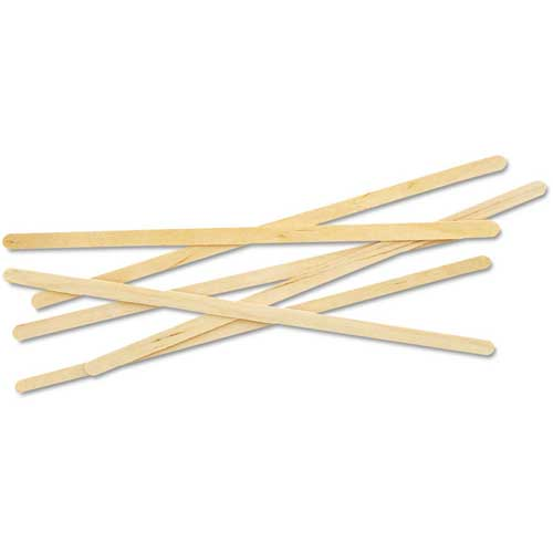 "Eco-Products Stirrers, 7""L, Wooden, 1000/Pack, Wood by"