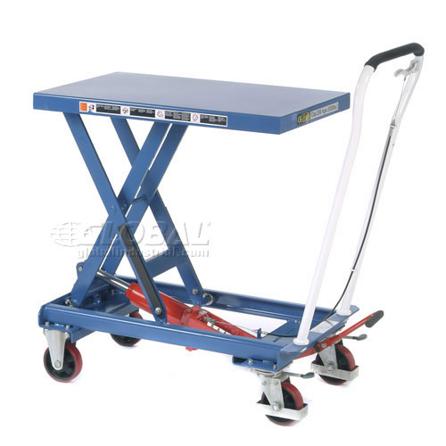 Best Value Mobile Scissor Lift Table 1100 Lb. Capacity Single Scissor 39 x 20 Platform by