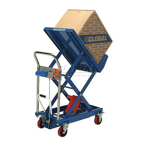 Best Value Mobile Lift & Tilt Scissor Lift Table 400 Lb. Capacity 29 x 19 Platform by