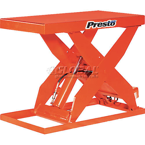 PrestoLifts HD Scissor Lift Table XL36-40H 48x24 Hand Operated 4000 Lb. by