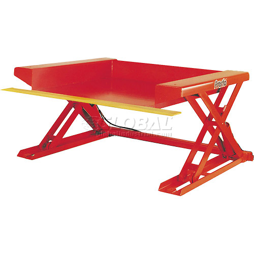 PrestoLifts Floor Level Powered Lift Table XZ50-40H Hand Control 4000 Lb. by