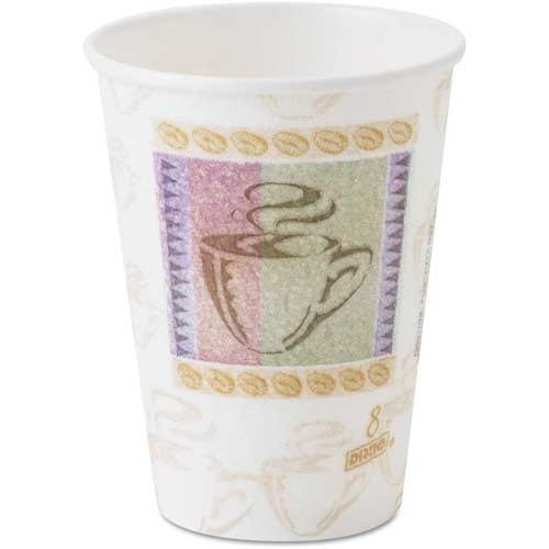 Dixie PerfecTouch Hot Cups, 8 oz., Coffee Dreams Design, 1000 ct by
