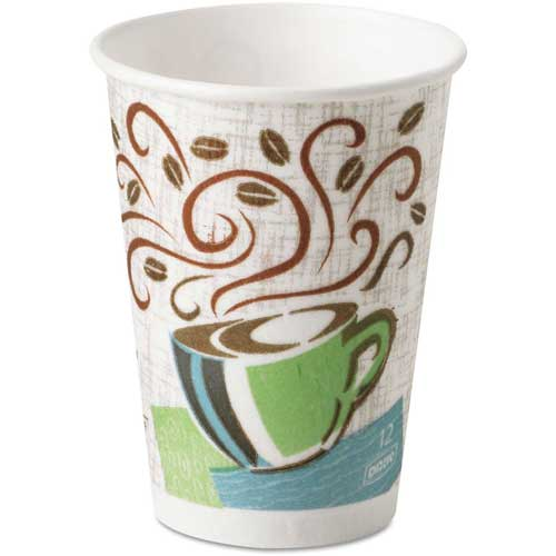 Dixie PerfecTouch Hot Cups, 12 oz., Coffee Dreams Design, 1000 ct by