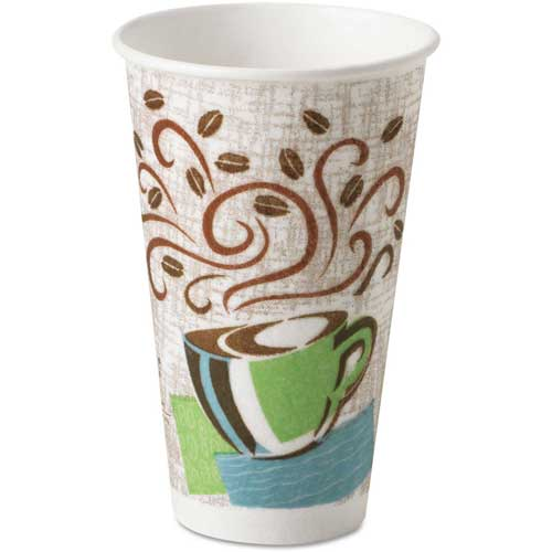Dixie DIX 5356CD PerfecTouch Hot Cups, 16 oz., Coffee Dreams Design, 1000 ct by
