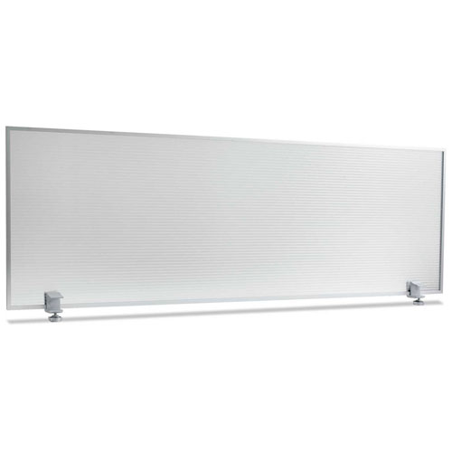 "Alera 47""W Polycarbonate Desktop Partition Privacy Panel, Silver by"