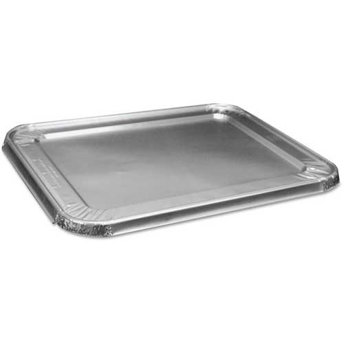 Half Size Steam Table Pan Lid, Aluminum, 100 ct by