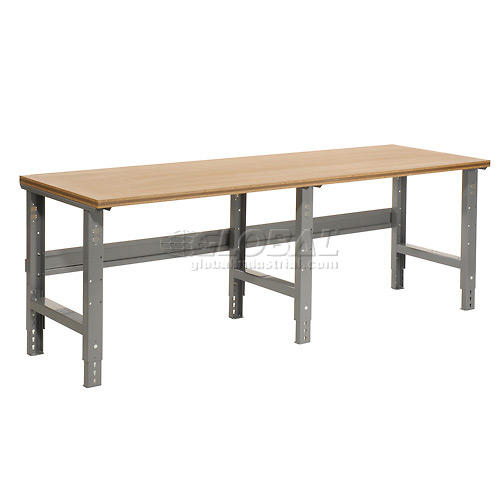 "96""W X 36""D Shop Top Square Edge Work Bench Adjustable Height..."