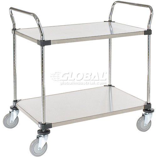 Nexel Stainless Steel Utility Cart 2 Shelves 36x24 by