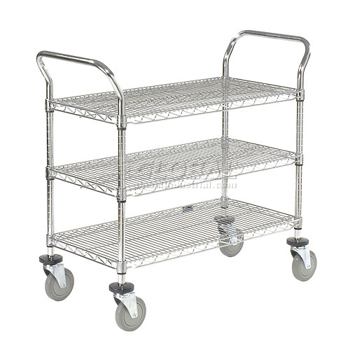 Nexel Wire Utility Cart 36x18 3 Shelves 800 Lb. Capacity by
