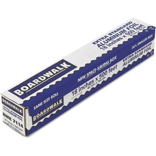 """Premium Quality Aluminum Foil Roll, 18"""" X 500 Ft, 16 Micron Thickness, Silver, 1 roll by"""