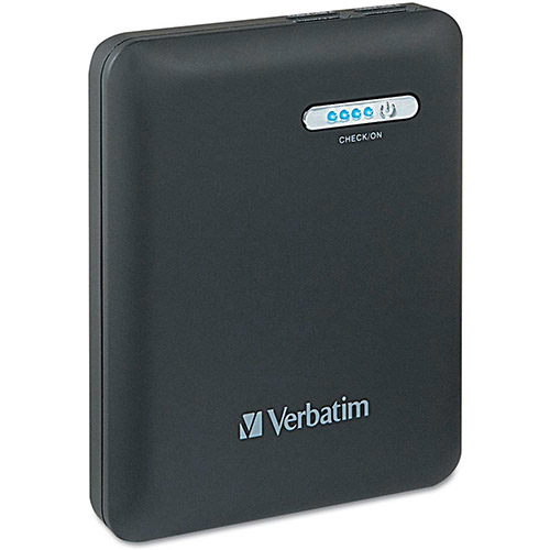 Buy Verbatim Dual USB Power Pack Charger for Mobile Devices, 12000 mAh Battery Capacity