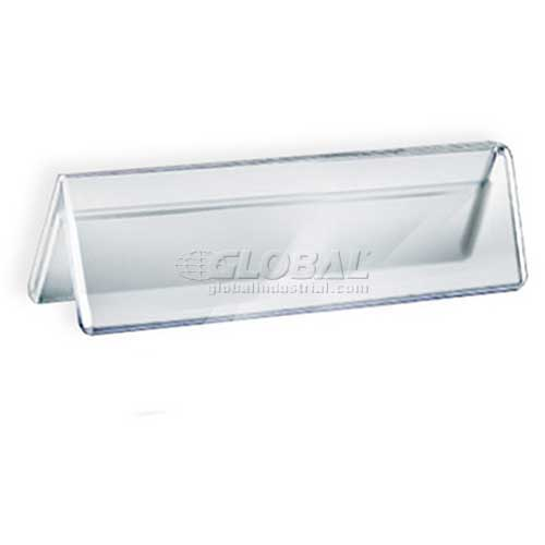 """Azar Displays 192801 Acrylic Two-Sided Nameplate, 6"""" x 2"""", Acrylic , 10-Pack by"""