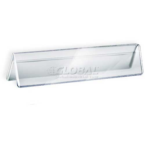 """Azar Displays 192802 Acrylic Two-Sided Nameplate, 8.5"""" x 2"""", Acrylic , 10-Pack by"""