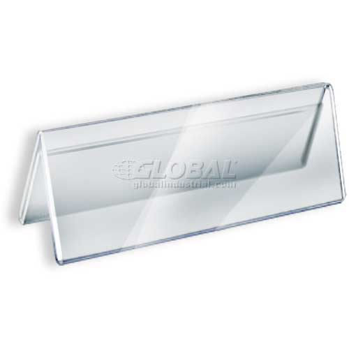 """Azar Displays 192805 Acrylic Two-Sided Nameplate, 8.5"""" x 3"""", Acrylic , 10-Pack by"""