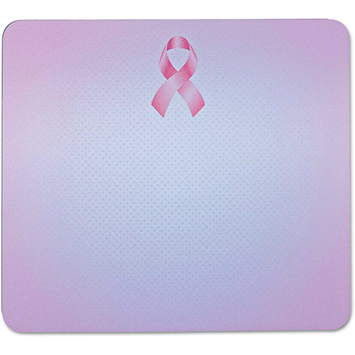 "3M Mouse Pad with Precise Mousing Surface, 9"" x 8"" x 1/4"", Pink Ribbon Design by"