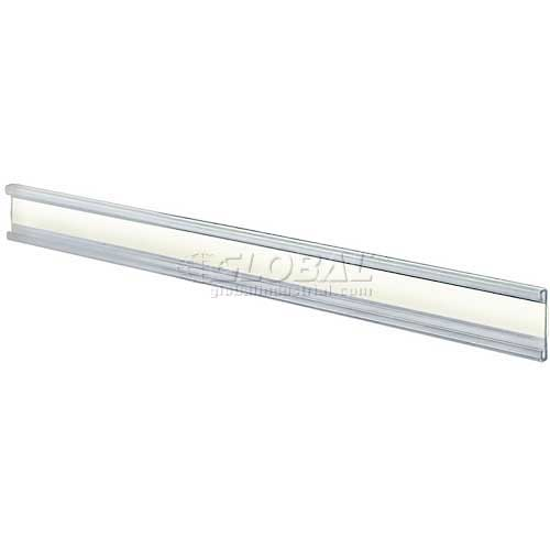 """Azar 199602 Adhesive-Back C-Channel Nameplate, 8.5"""" x 1"""", Acrylic , 10-Pack by"""