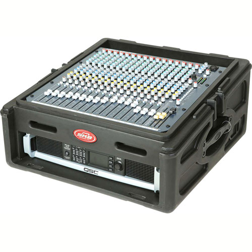 SKB Cases 10 x 2 Roto Rack/Mixer Console 1SKB-R102 Black, Keyed Lock, Water Resistant by