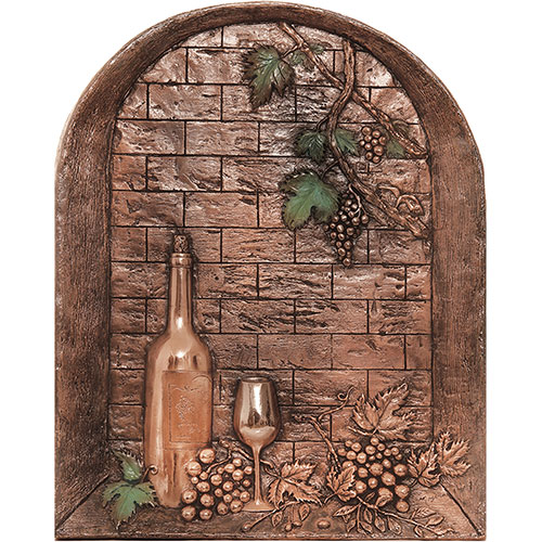 Good Directions Wine Cellar Copper Mural/Backsplash by