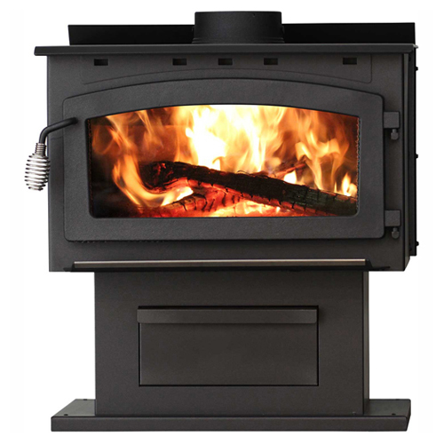 King EPA Certified Wood Stove With Blower 2016EB, 89000 BTU, 2000 Sq. Ft. by