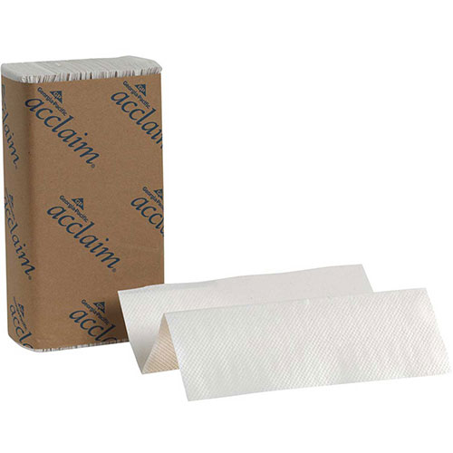 GP Acclaim White Multifold Paper Towels, 250 Sheets/Pack, 16 Packs/Case 20204 by