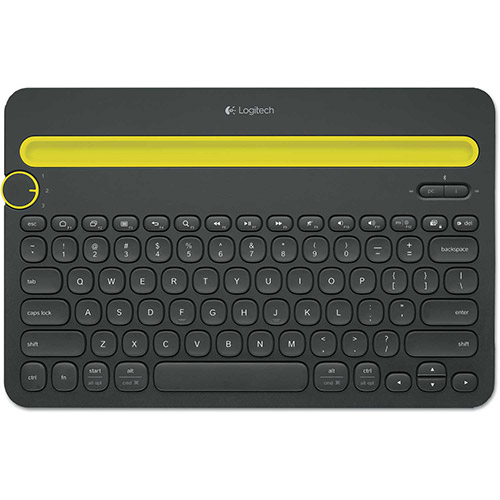 Buy Logitech K480 Bluetooth Multi-Device Keyboard, Bluetooth, 12 1/5 x 1 3/5 x 7 9/10, Black