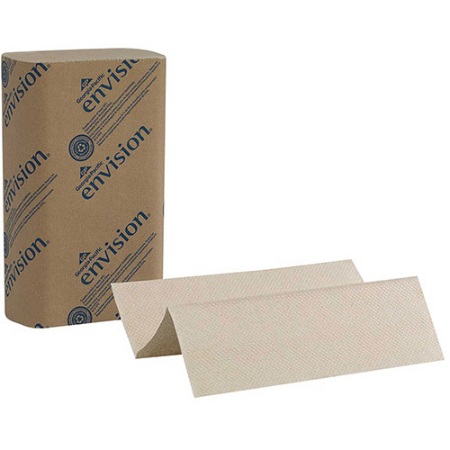 GP Envision Brown Multifold Paper Towels, 250 Towels/Pack, 16 Packs/Case 23304 by