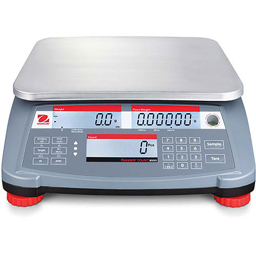 "Ohaus Ranger Count 3000 Compact Digital Counting Scale 60lb x 0.002lb 11-13/16"" x 8-7/8"" by"