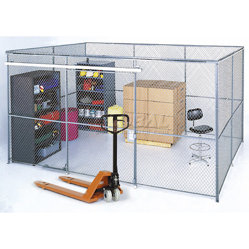 Wire Mesh Partition Security Room 20x10x8 with Roof 4 Sides by