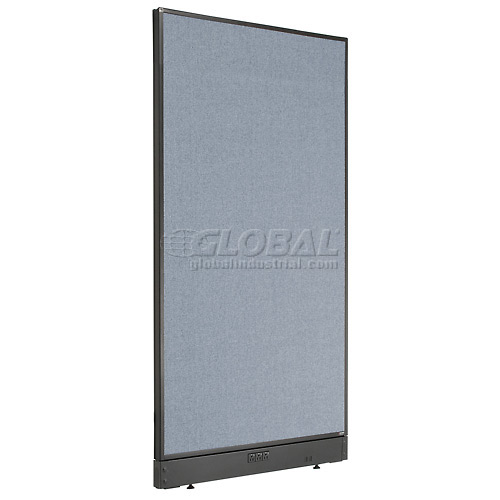 """Interion Electric Office Cubicle Partition Panel, 36-1/4""""W x 64""""H, Blue by"""