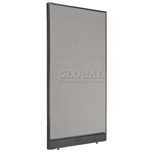 """Interion Electric Office Cubicle Partition Panel, 36-1/4""""W x 64""""H, Gray by"""
