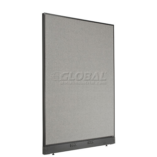 "Electric Office Partition Panel, 48-1/4""W x 64""H, Gray by"