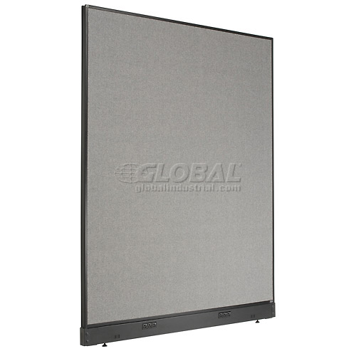 "Electric Office Partition Panel, 60-1/4""W x 76""H, Gray by"