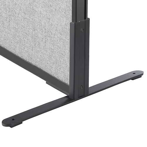 "Click here to buy 8""H T-Leg Bracket for Office Partition Panels, Black (1 Pair)."