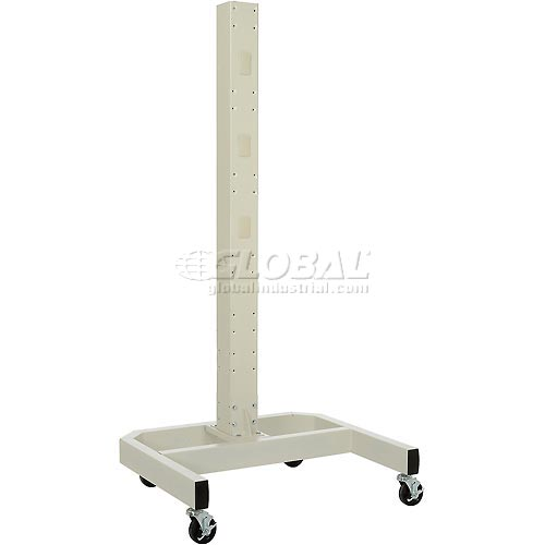 """78""""H Mobile Post with Caster Base Beige by"""