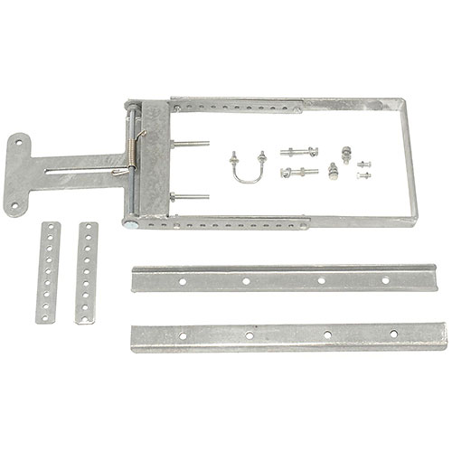 "Spring-Loaded Safety Gate 24""- 40""W Opening Galvanized by"
