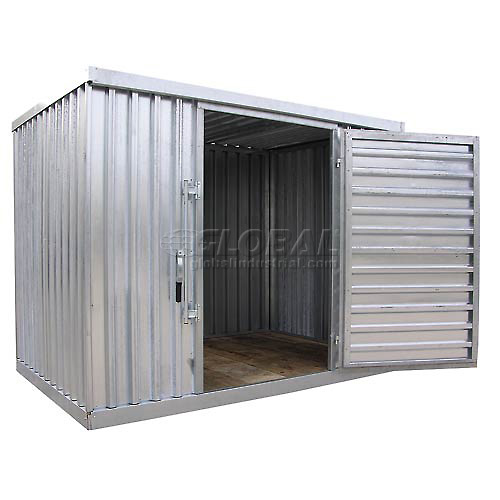 Click here to buy Galvanized Steel Outdoor Storage Shed 9