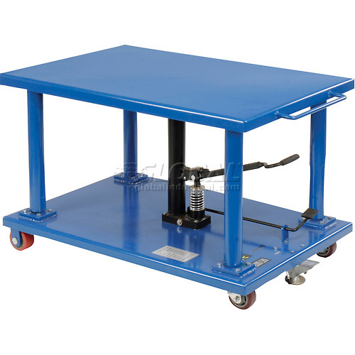 Work Positioning Post Lift Table Foot Control 2000 Lb. Capacity by