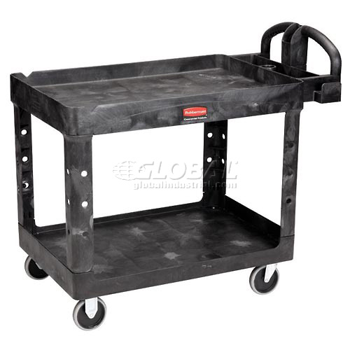 """Rubbermaid 4546 Tray Shelf Plastic Service Cart 54x25 5"""" Casters by"""