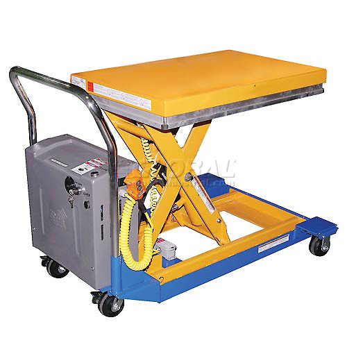 Vestil Battery Powered Mobile Scissor Lift Table CART-23-10-DC 36 x 24 1000 Lb. by