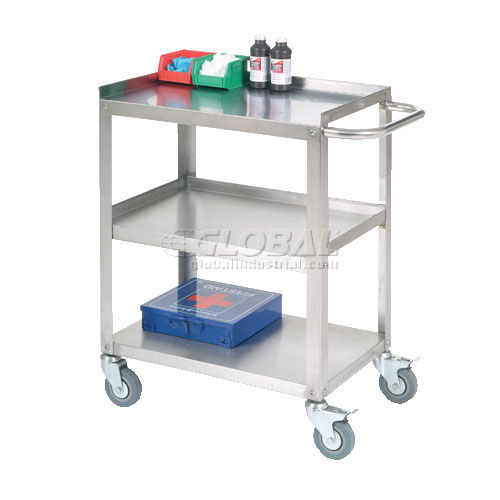 "Stainless Steel Utility Cart 24""L x 16-1/4""W x 33""H 400 Lb. Cap. by"