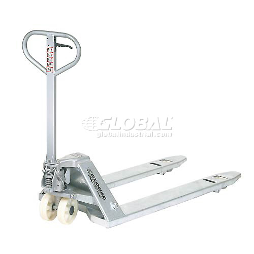 Best Value Galvanized Pallet Jack Truck 27 x 48 4400 Lb. Capacity by