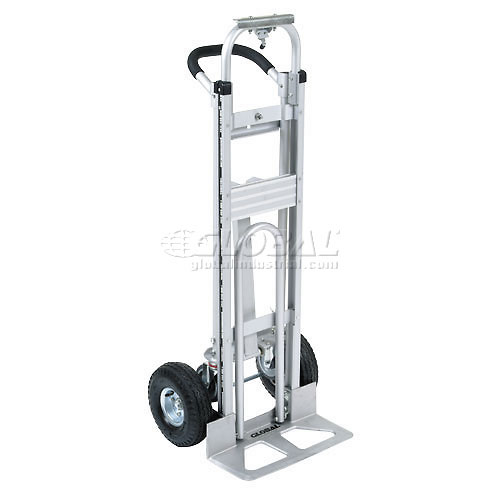Best Value Aluminum 3-in-1 Convertible Hand Truck with Pneumatic Wheels by