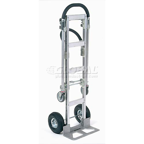 Best Value Senior Aluminum 2-in-1 Convertible Hand Truck with Pneumatic Wheels by